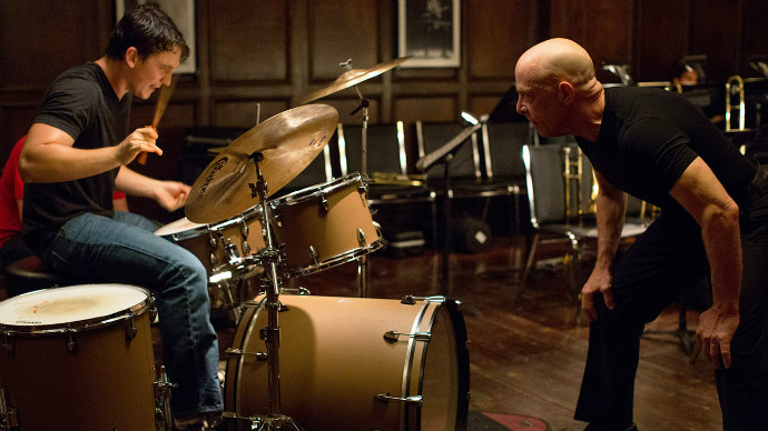 Miles Teller and J.K. Simmons square off in Whiplash (Image © Sony Pictures Classics).