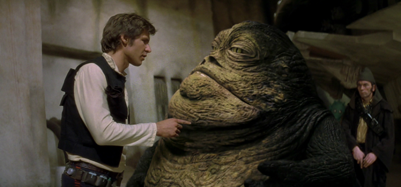 Jabba the Hutt, as he appears in the Special Edition of Star Wars (Image  © Lucasfilm).
