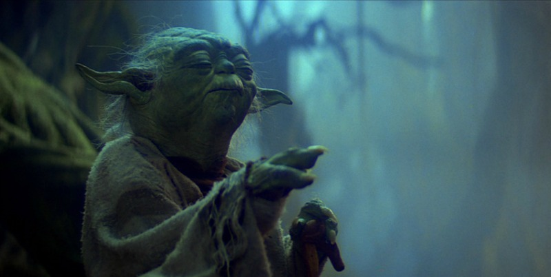 Yoda uses the force (Image  © Lucasfilm).