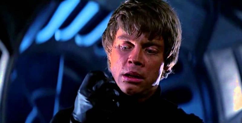Luke Skywalker (Mark Hamill) chooses the light over the dark in the climactic moment of Return of the Jedi (Image  © Lucasfilm/Disney).