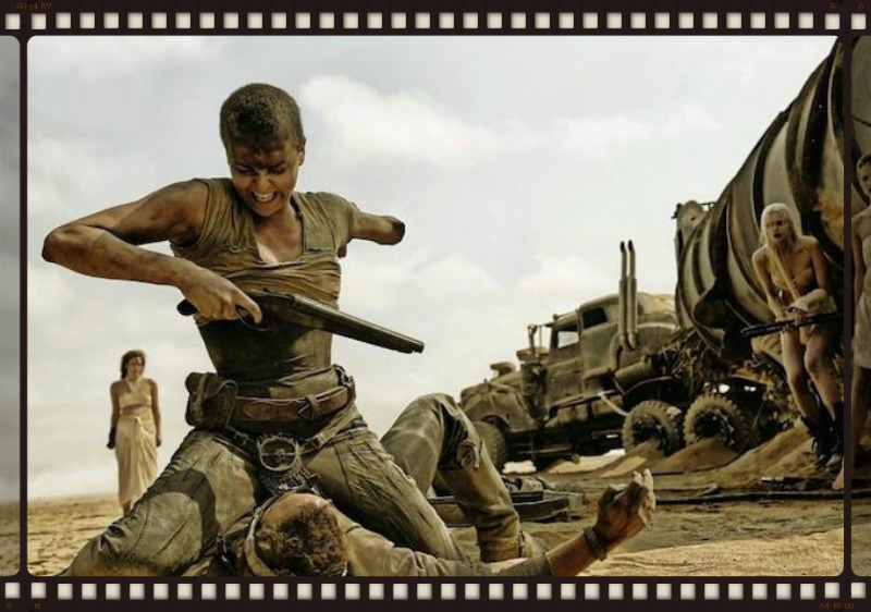 Charlize Theron gets tough after the apocalypse in Mad Max:Fury Road (Image  © Warner Bros.)