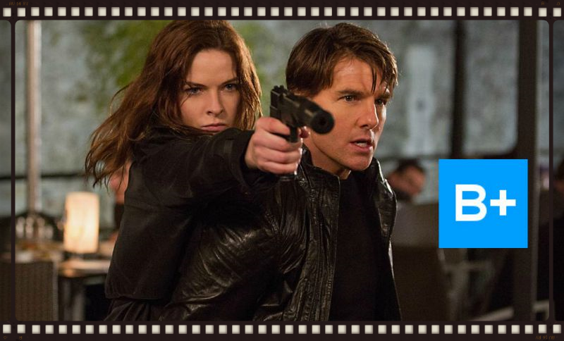 Rebecca Ferguson and Tom Cruise in Mission:Impossible -Rogue Nation (Image  © Paramount Pictures).