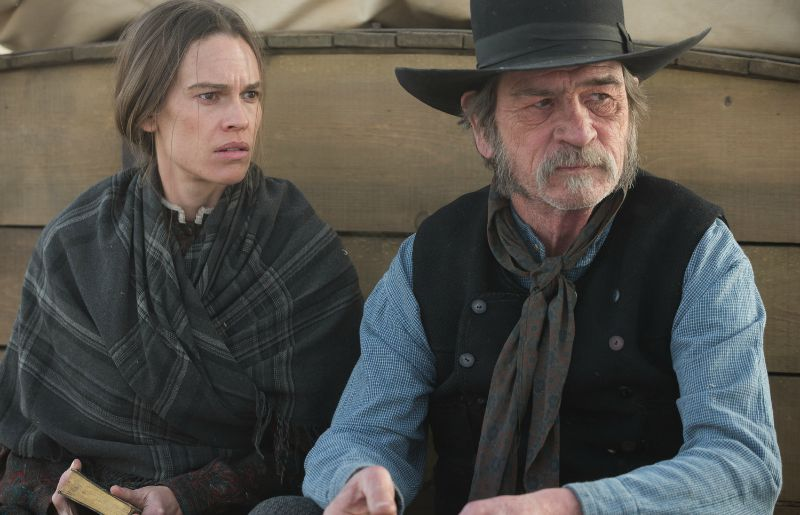 Hilary Swank and Tommy Lee Jones star in The Homesman (Image  ©  Roadside Attractions/Saban Films).
