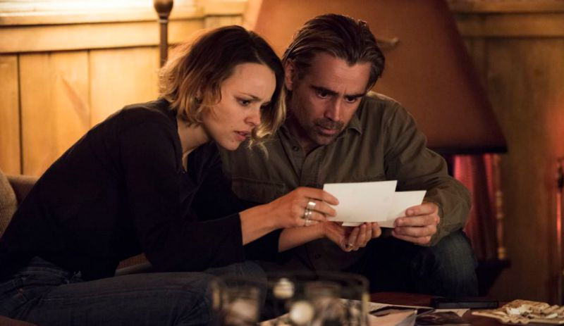 Rachel McAdams and Colin Ferrell unravel a mystery in True Detective Season Two (Image  © HBO).