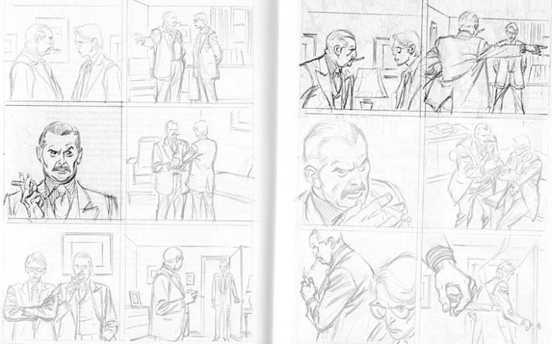 """""""Boring"""" composition on the left, Marvel-approved drama on the right (Image  © John Buscema/Marvel)."""