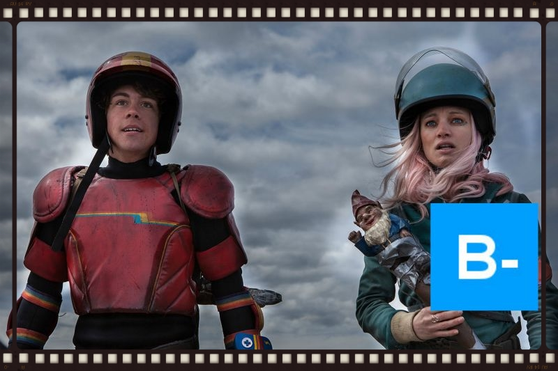 Munro Chambers and Laurence Leboeuf star in Turbo Kid (Image  ©  Epic Pictures Group).