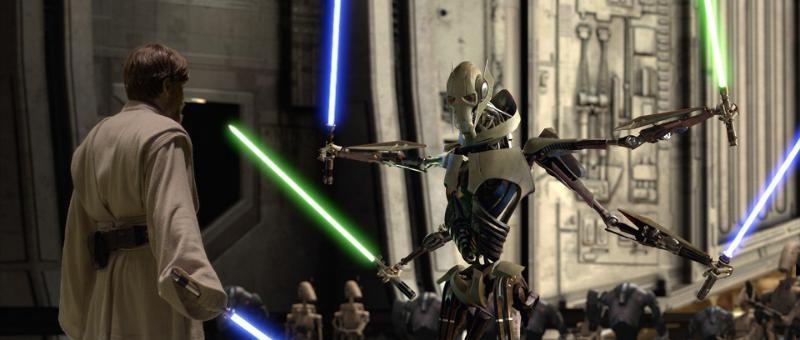 Obi Wan Kenobi faces off against General Grievous (Image  © Lucasfilm).
