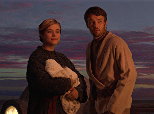 Beru and Owen take in little Luke Skywalker in the final moments of Revenge of the Sith (Image  ©  Lucasfilm).