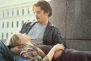 Julie Delpy and Ethan Hawke in Before Sunrise (Image © Columbia Pictures)