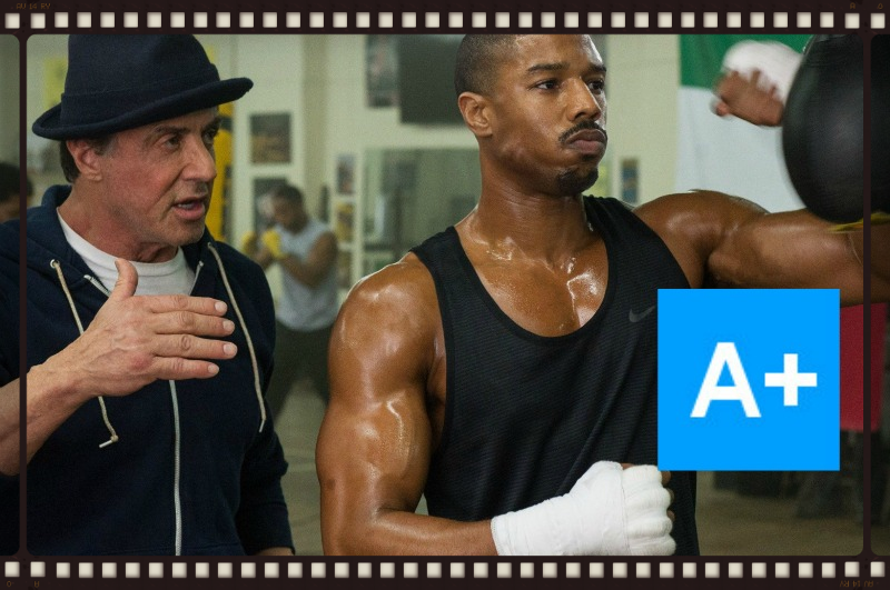Sylvester Stallone passes the torch to Michael B. Jordan in  Creed , the latest installment of Stallone's Rocky franchise (Image  © Warner Bros.)