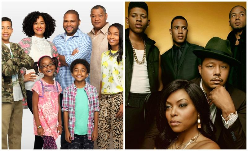 Left: The cast of ABC's  Black-ish (Image © ABC), Right: The cast of FOX's  E  mpire (Image © FOX).