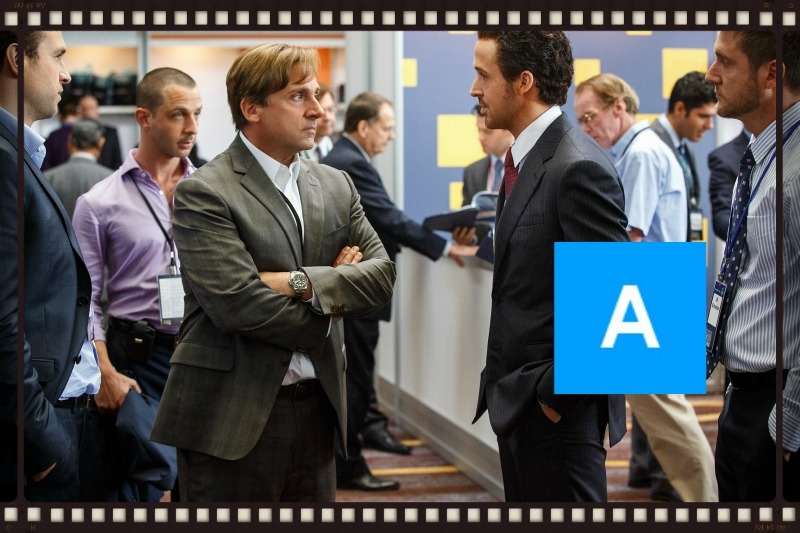 Steve Carrell and Ryan Gosling in The Big Short (Image  © Paramount Pictures).