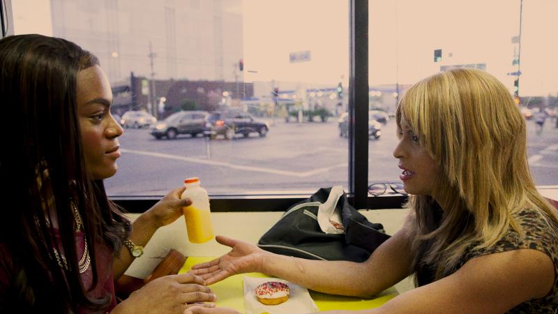 Mya Taylor and Kitana Kiki Rodriguez in Sean S. Baker's  Tangerine (Image © Magnolia Pictures).