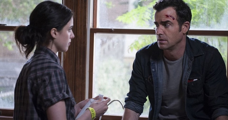 Margaret Qualley and Justin Theroux in  The Leftovers  (Image © HBO).