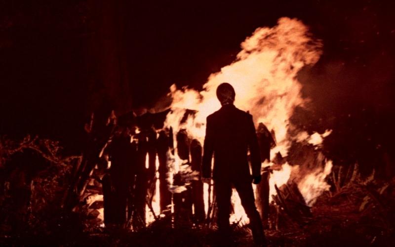 Luke Skywalker burns Darth Vader's suit at the end of  Return of the Jedi (Image © Lucasfilm).