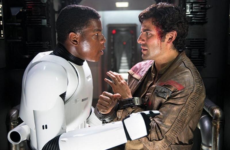 John Boyega and Oscar Isaac in  Star Wars: The Force Awakens (Image © Lucasfilm).