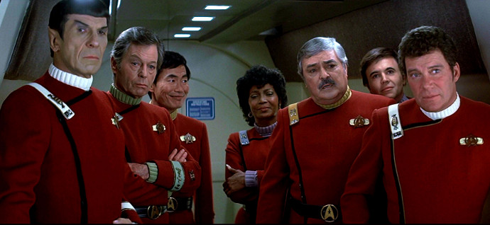 The Enterprise crew in Star Trek II: The Wrath of Khan (Image © Paramount Pictures)