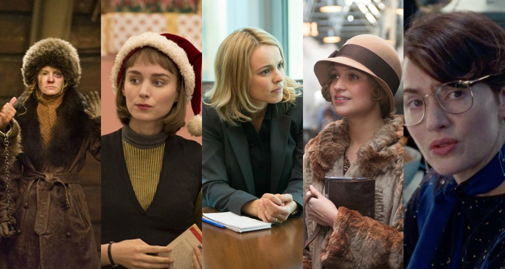 Jennifer Jason Leigh (The Hateful Eight), Rooney Mara (Carol), Rachel McAdams (Spotlight), Alicia Vikander (The Danish Girl), Kate Winslett (Steve Jobs)