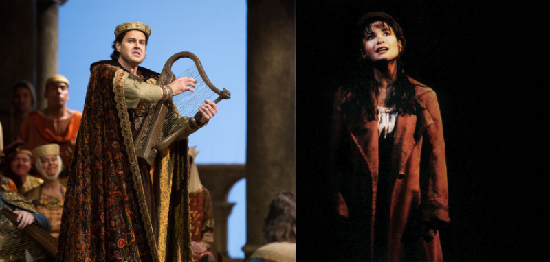 Peter Mattei as Wolfram in Tannhauser and Lea Salonga as Eponine in Les Miserables.