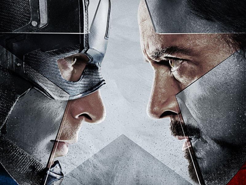 Captain America and Iron Man face off in Marvel's  Captain America: Civil War  (Image © Marvel)