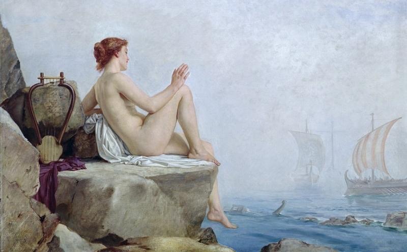 """The Siren"" by  Edward Armitage"