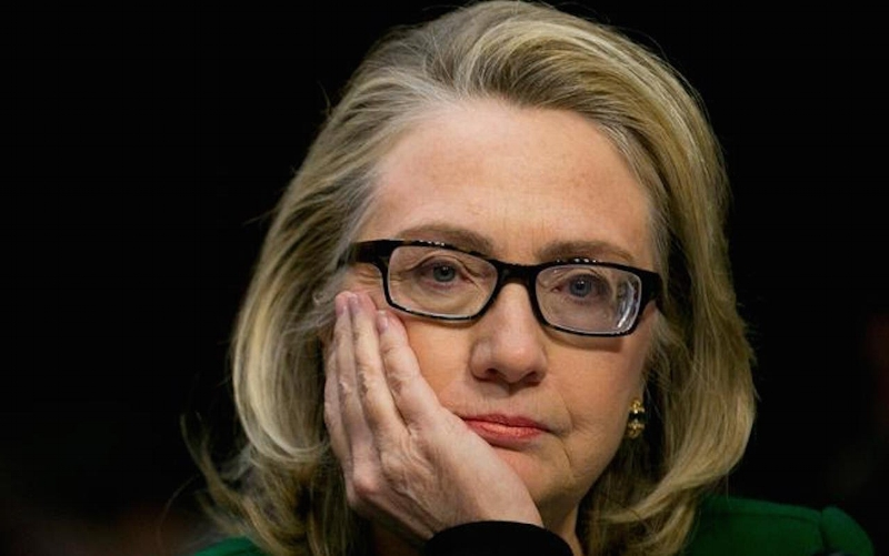 Hillary Clinton during the Benghazi hearings.