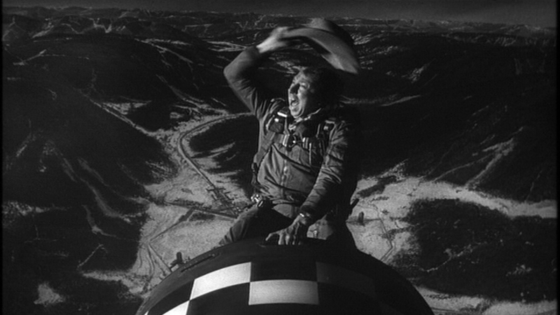 Slim Pickens rides the bomb at the end of  Dr. Strangelove (Image  © Columbia Pictures).