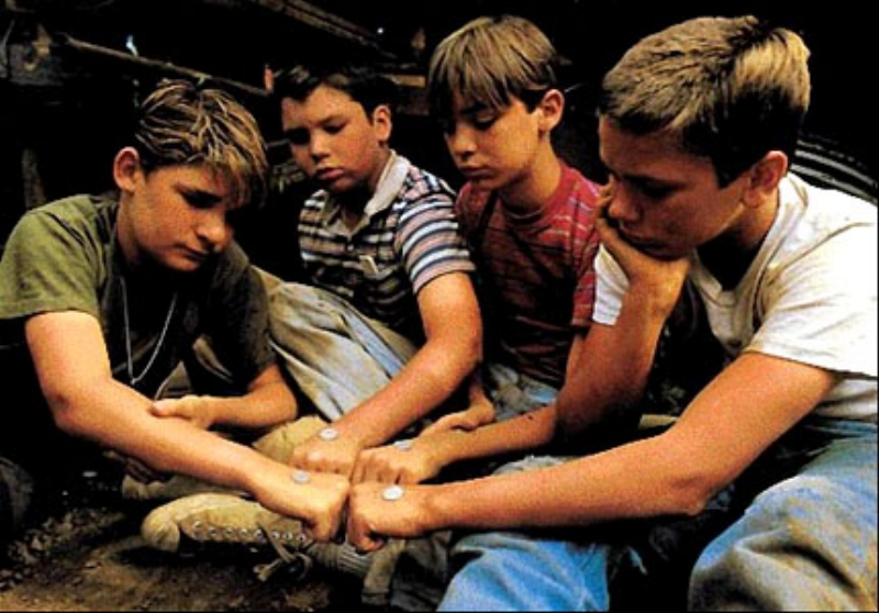 The cast of Rob Reiner's Stand by Me (Image © Columbia Pictures)