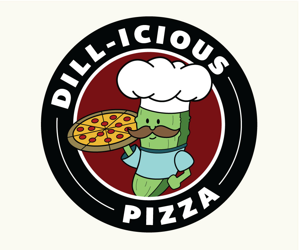 Dill-icious Pizza Logo & Menu