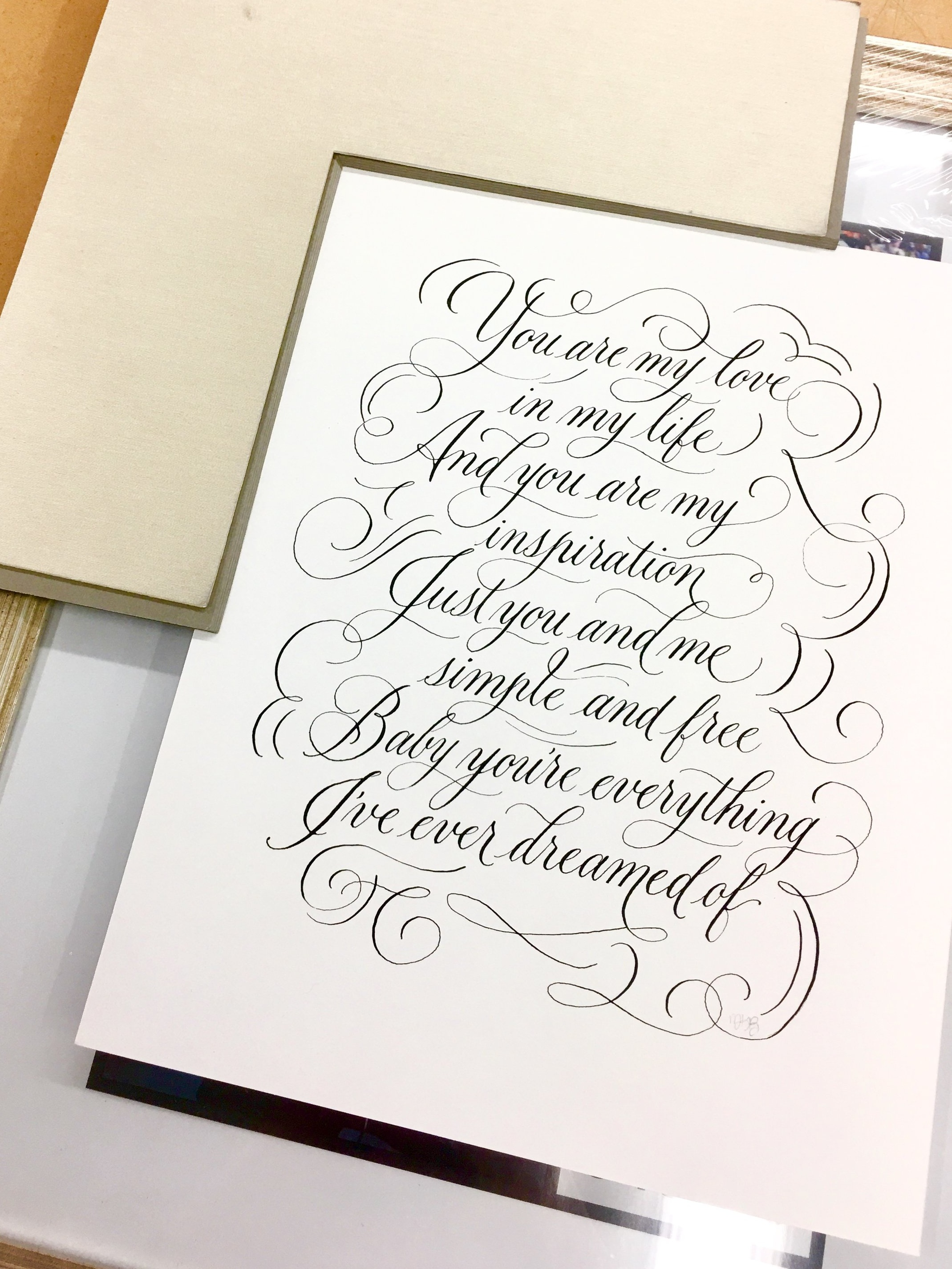 Anniversary Calligraphy