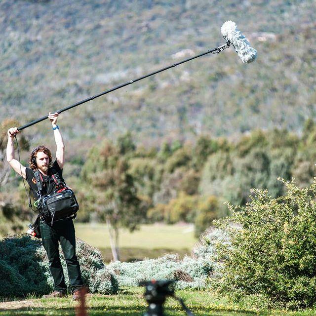 Booming that bush something chronic. @barrenfilm #notreallyboomingabush #waitingforcast #soundforfilm