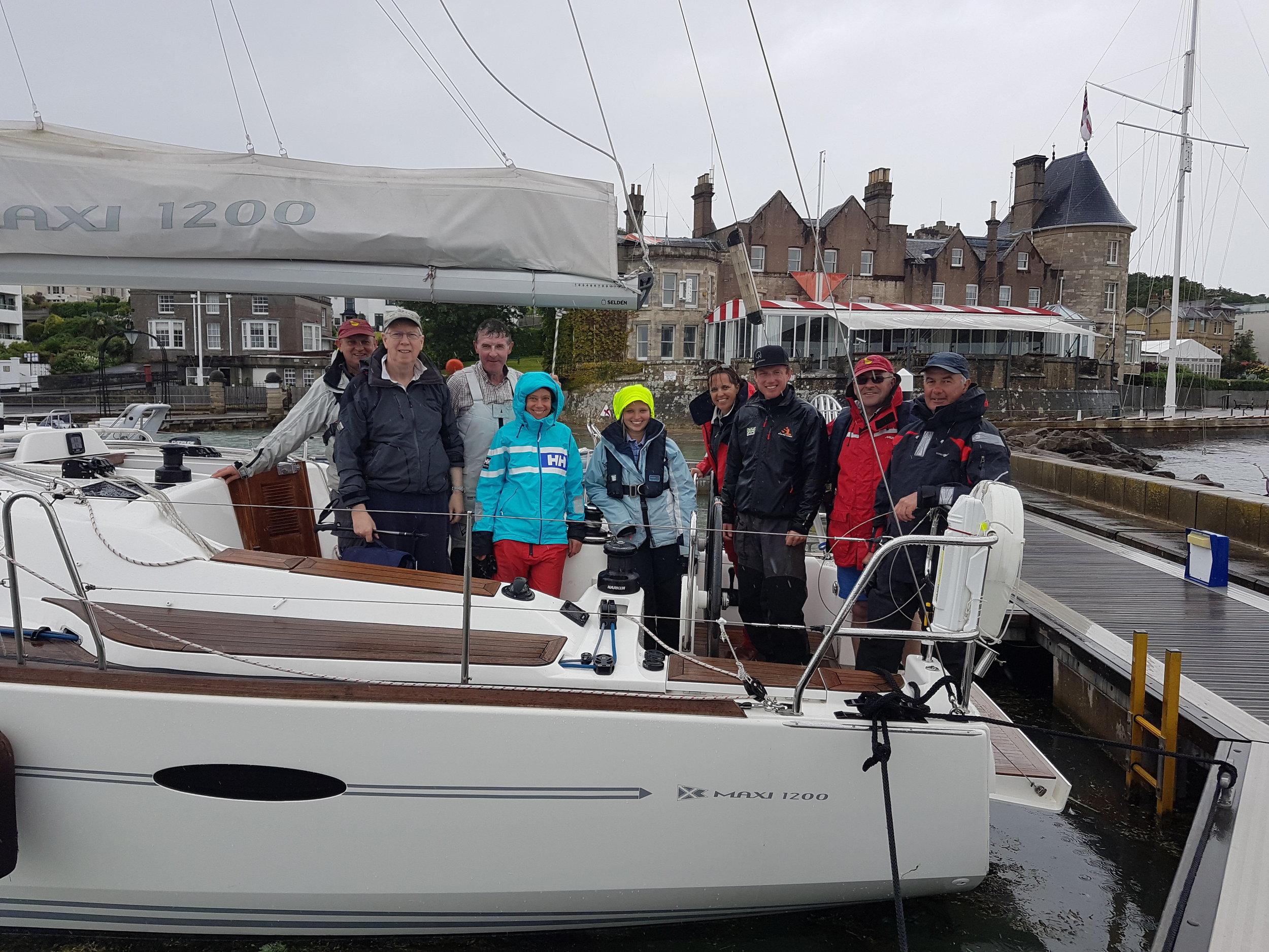 Baldur and her winning crew!