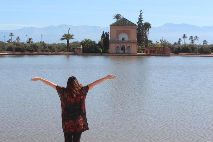 Image: Marie Milligan 2015 Heart-wide open at Menara Gardens, Marrakech
