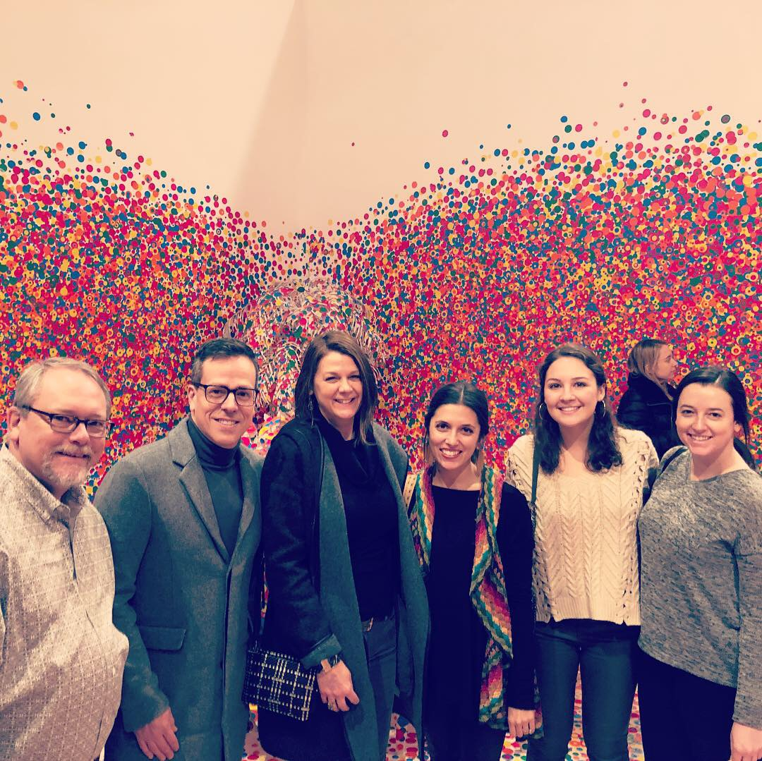 The blackdog gang at the Yayoi Kusama show 2019