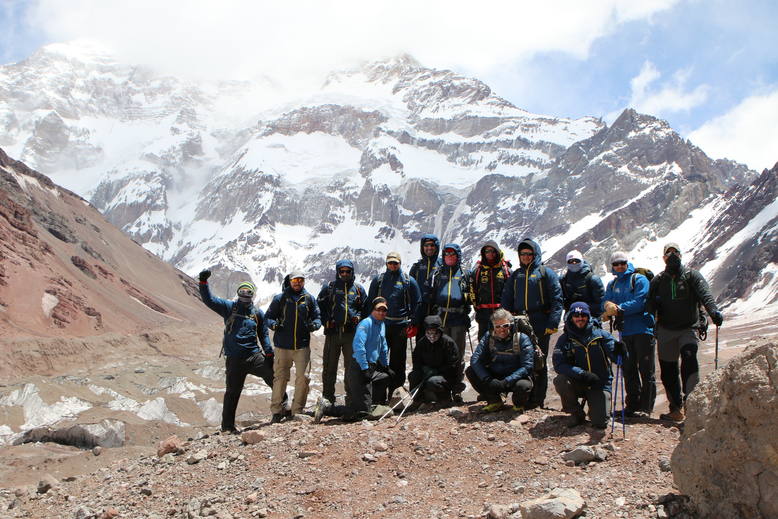 The team as they set off from Base Camp