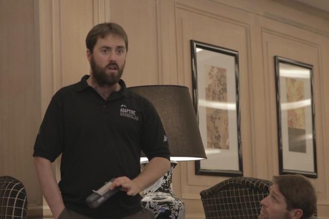 Martin sporting his sub-zero thermal beard.