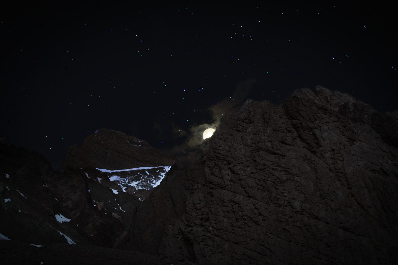 Stunning photo of the brutally stark Andean landscape at night taken by Paul Harries, the AGS photographer.