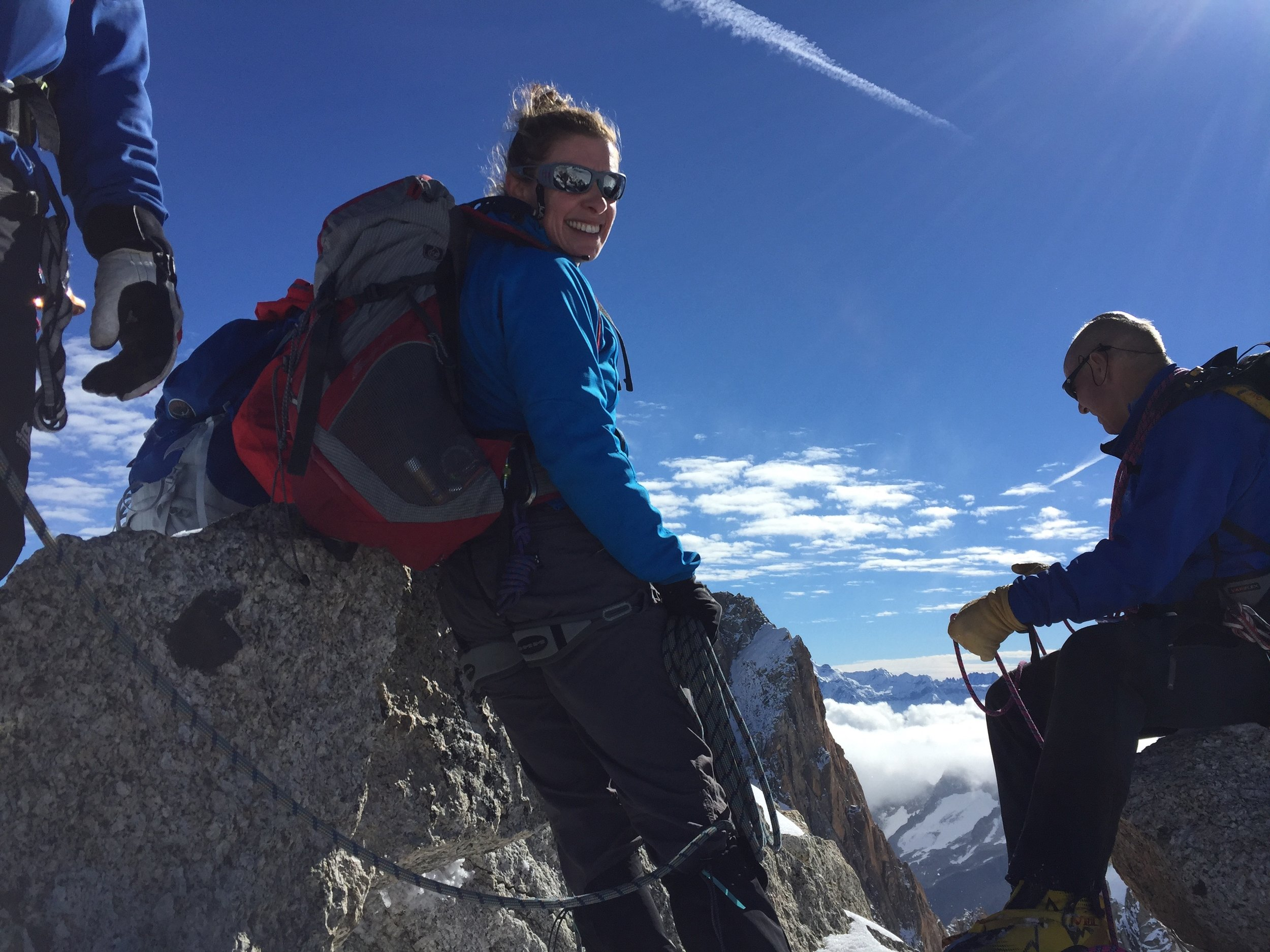 Kelda Wood in training on Grand Paradiso