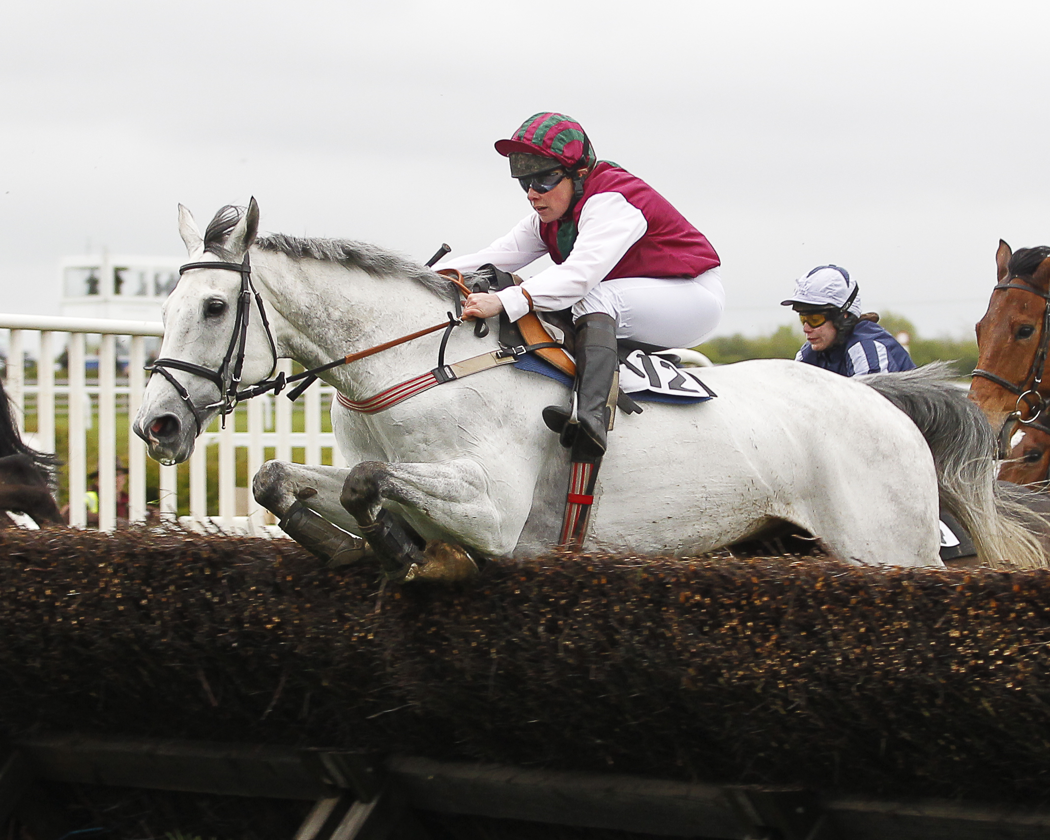 Kelda spent 15 years riding and training racehorses. This is her winning on Good Man Sir in her last season race riding.