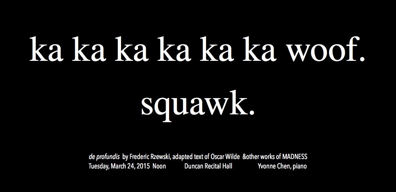 Recital Poster for MADNESS recital March 24, 2015