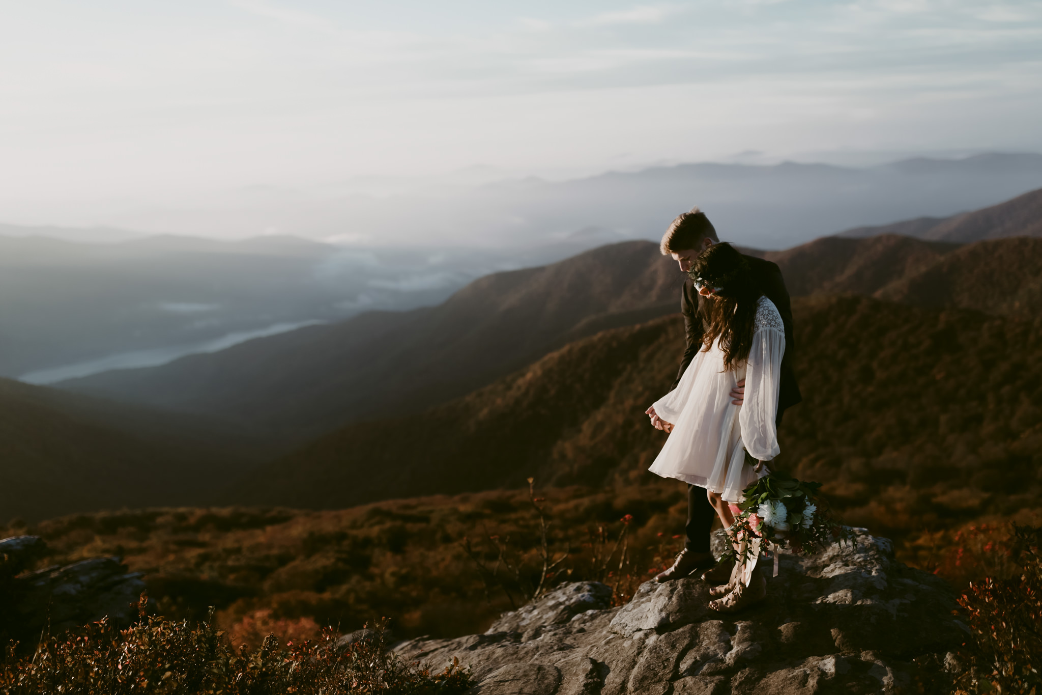Asheville Elopement Session in Craggy Gardens