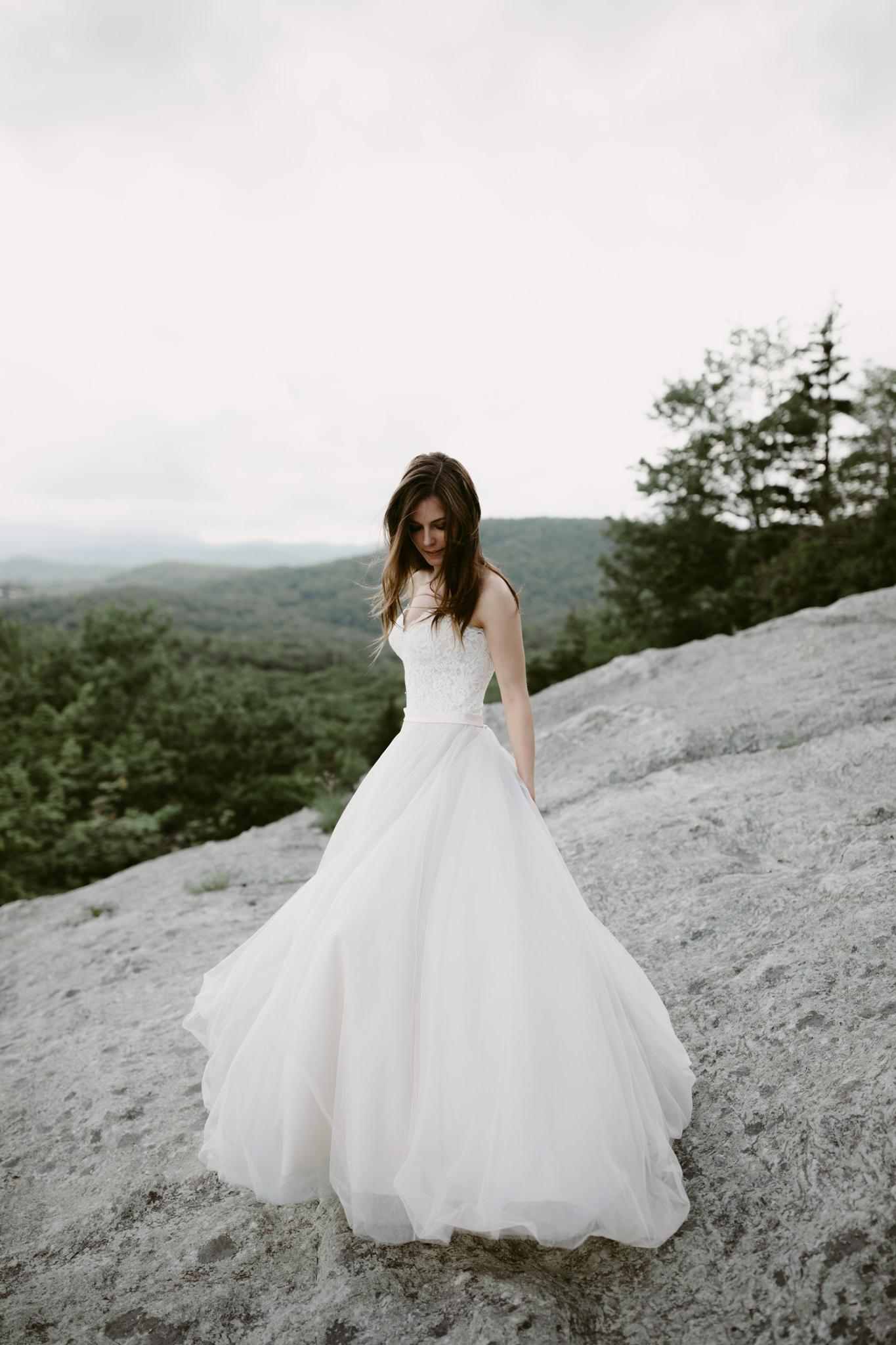 Bridal Portrait in the Upper Cascade Mountains