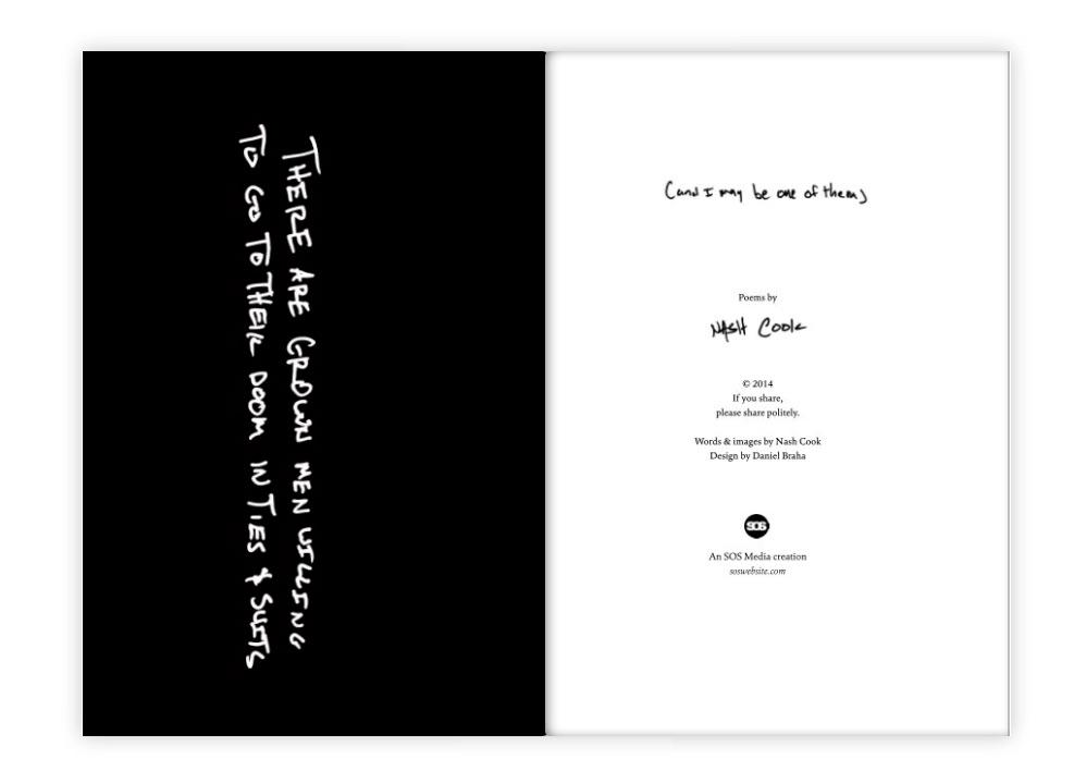 sos media book design poetry layout nash cook