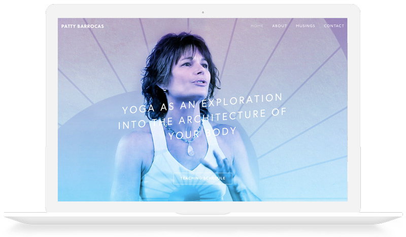 Patty Barrocas Yogatect Squarespace website design branding