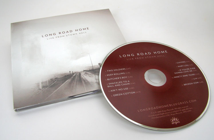 Long Road Home CD Packaging Design live at ETOWN Hall