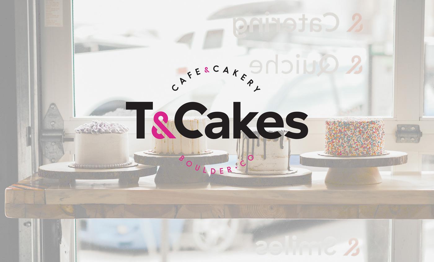 SOS Media branding logo cupcake shop T&Cakes Boulder CO