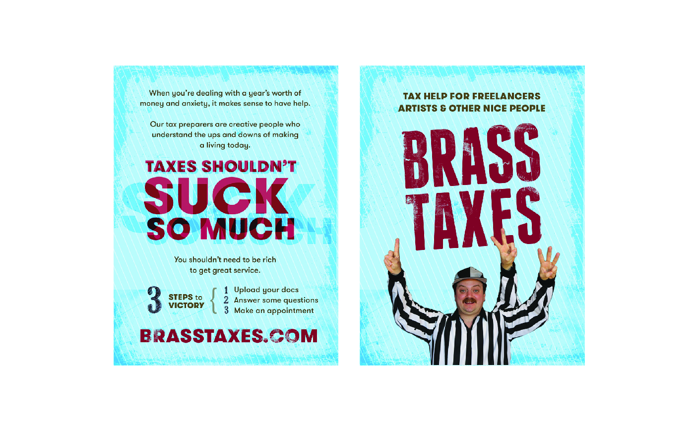 Brass Taxes Flyer Promotional Poster Design