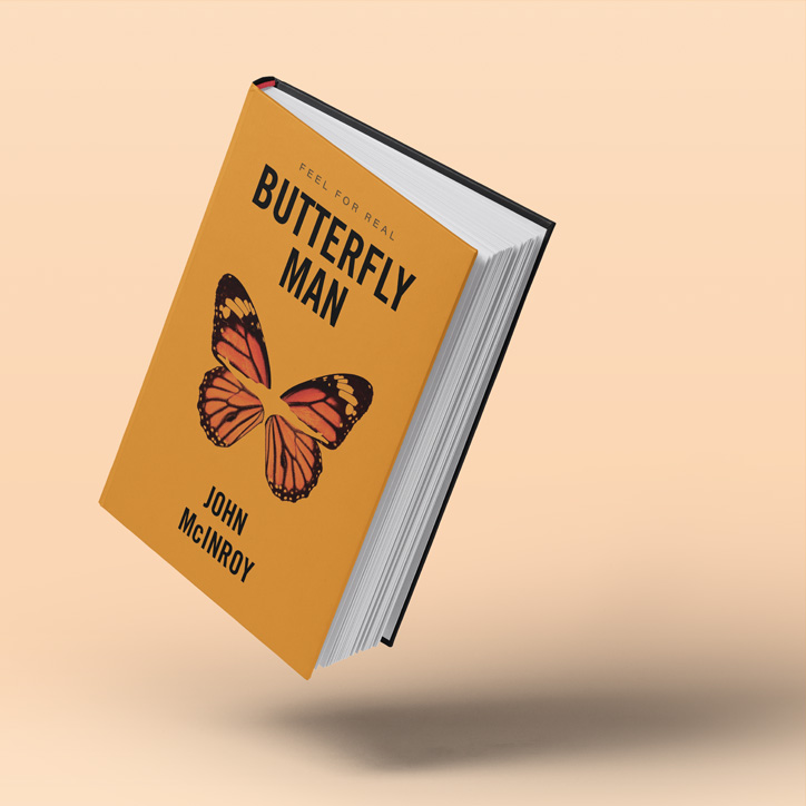 Book Cover Design Butterfly Man
