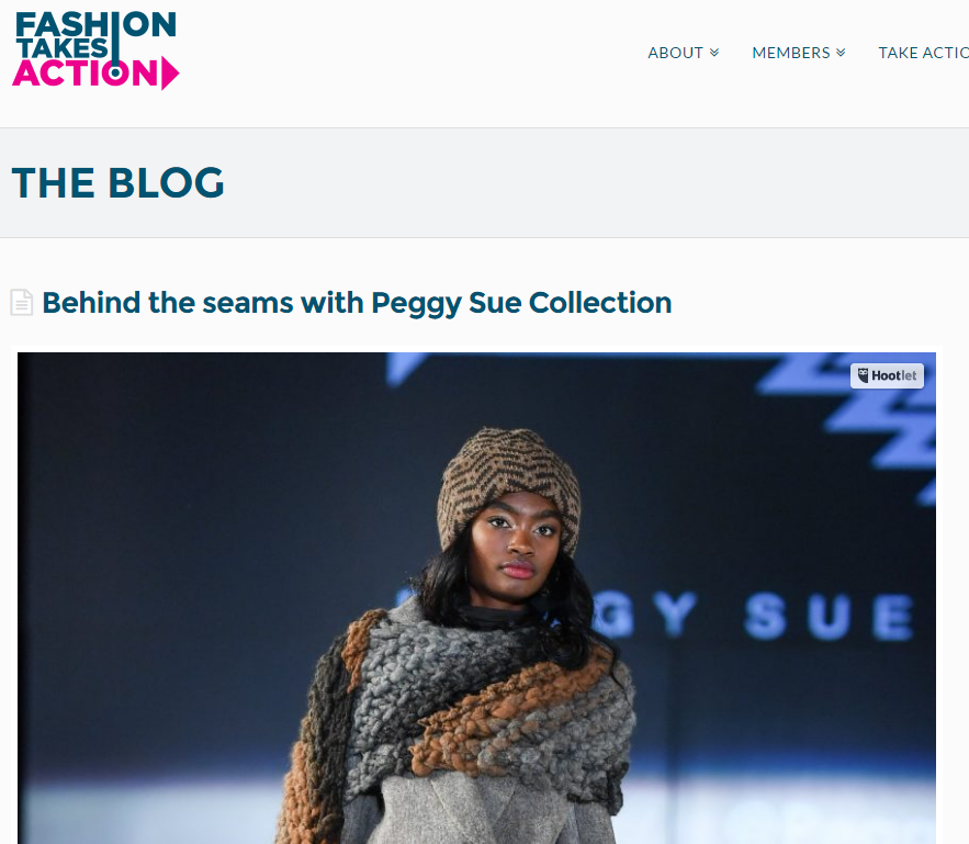 FASHION TAKES ACTION  Behind The Seams With Peggy Sue Collection