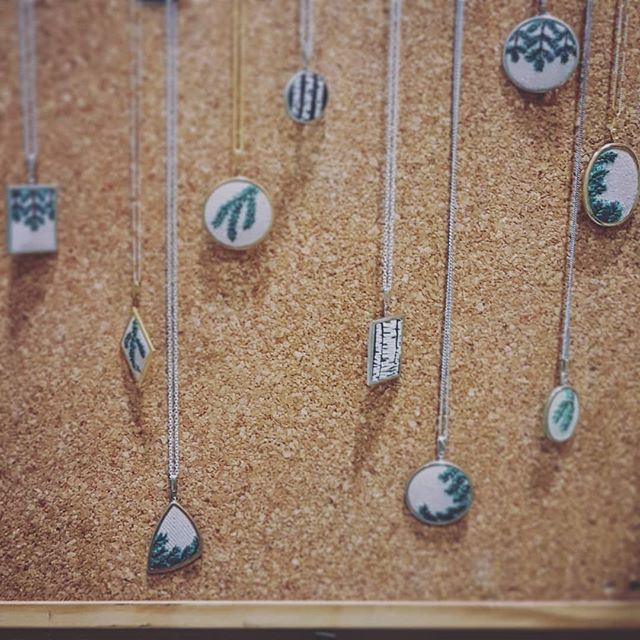 Delicate details make up our finishing touches with @snowforestshop 's fine needlework. Today at the @buygoodfeelgood the whole collection of lovely objects is with us.  Come find your moment of magic and small wonder